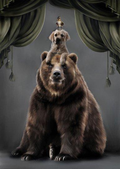 Linn Wold Poster 30x40 Teddy & buds