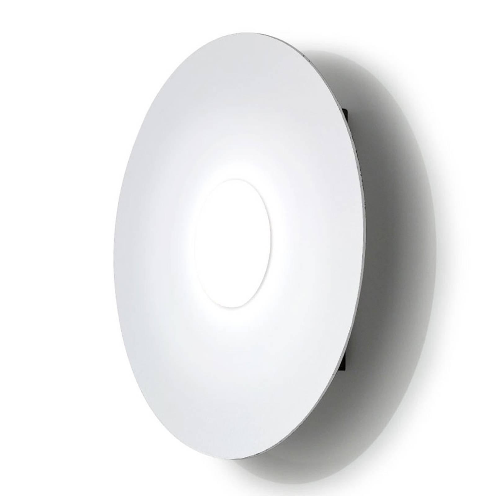 LED-vegglampe Circle, hvit, 1 lyskilde, dimbar