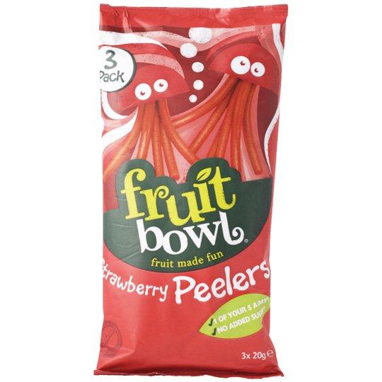 """Fruktsnacks """"Strawberry Peelers"""" 3 x 20g - 48% rabatt"""
