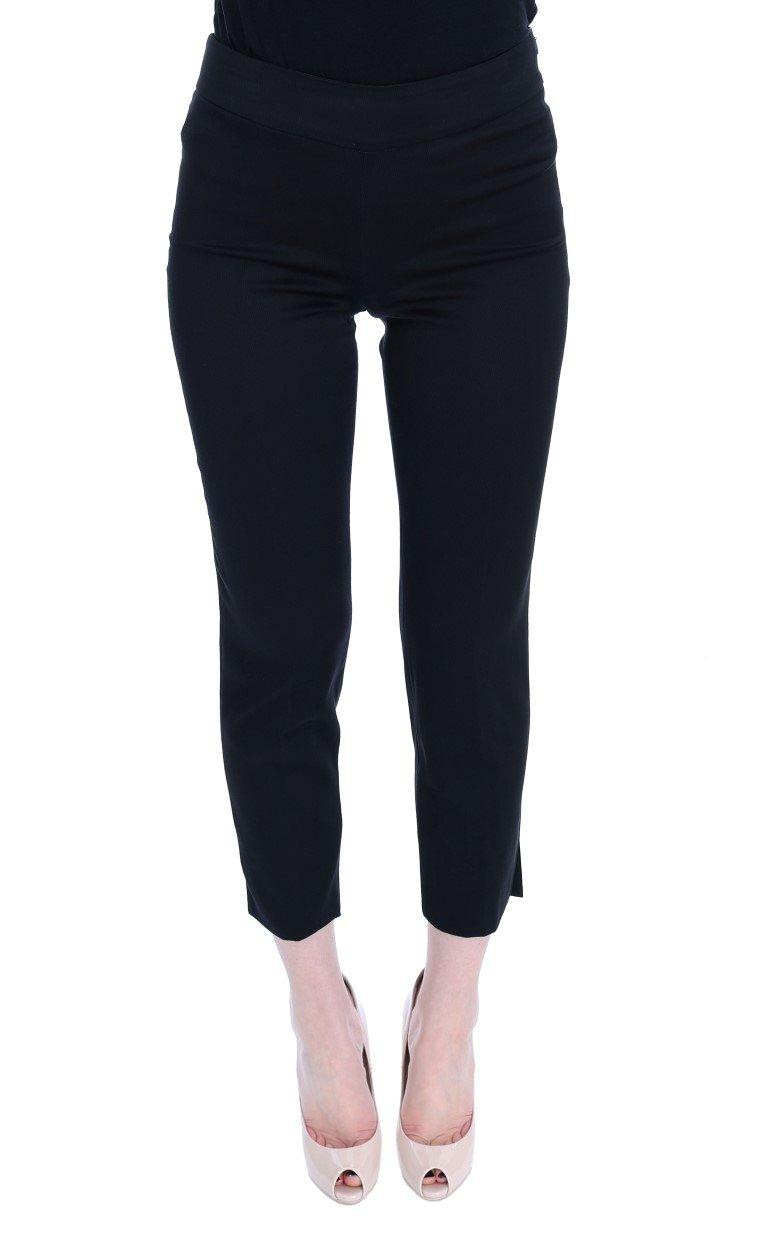 BENCIVENGA Women's Cotton Stretch Capri Trouser Black SIG50005 - IT42|M