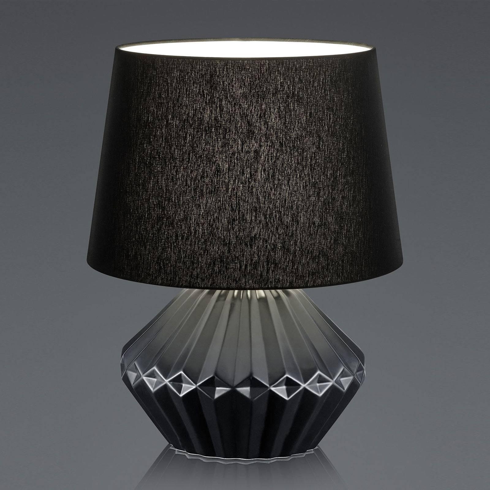 B-Leuchten Kera bordlampe, 46cm tekstilskjerm