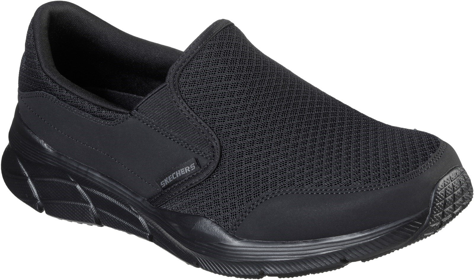 Skechers Men's Equalizer 4.0 Slip On Comfort Trainer Various Colours 32181 - Black/Black 6