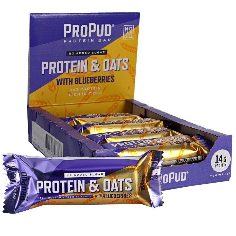 Proteiinipatukat Oats & Blueberries 10kpl - 35% alennus