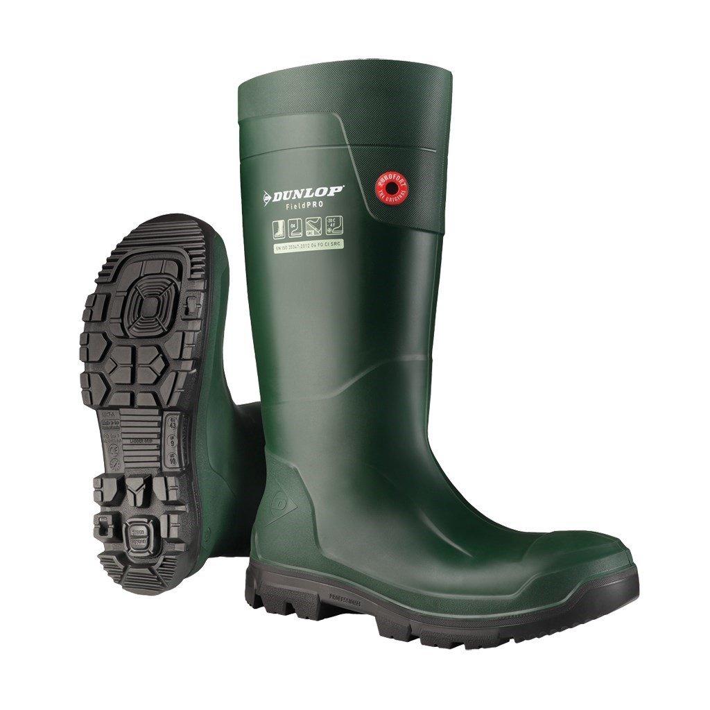 Dunlop Unisex FieldPro Wellington Boot Green 33483 - Green 2