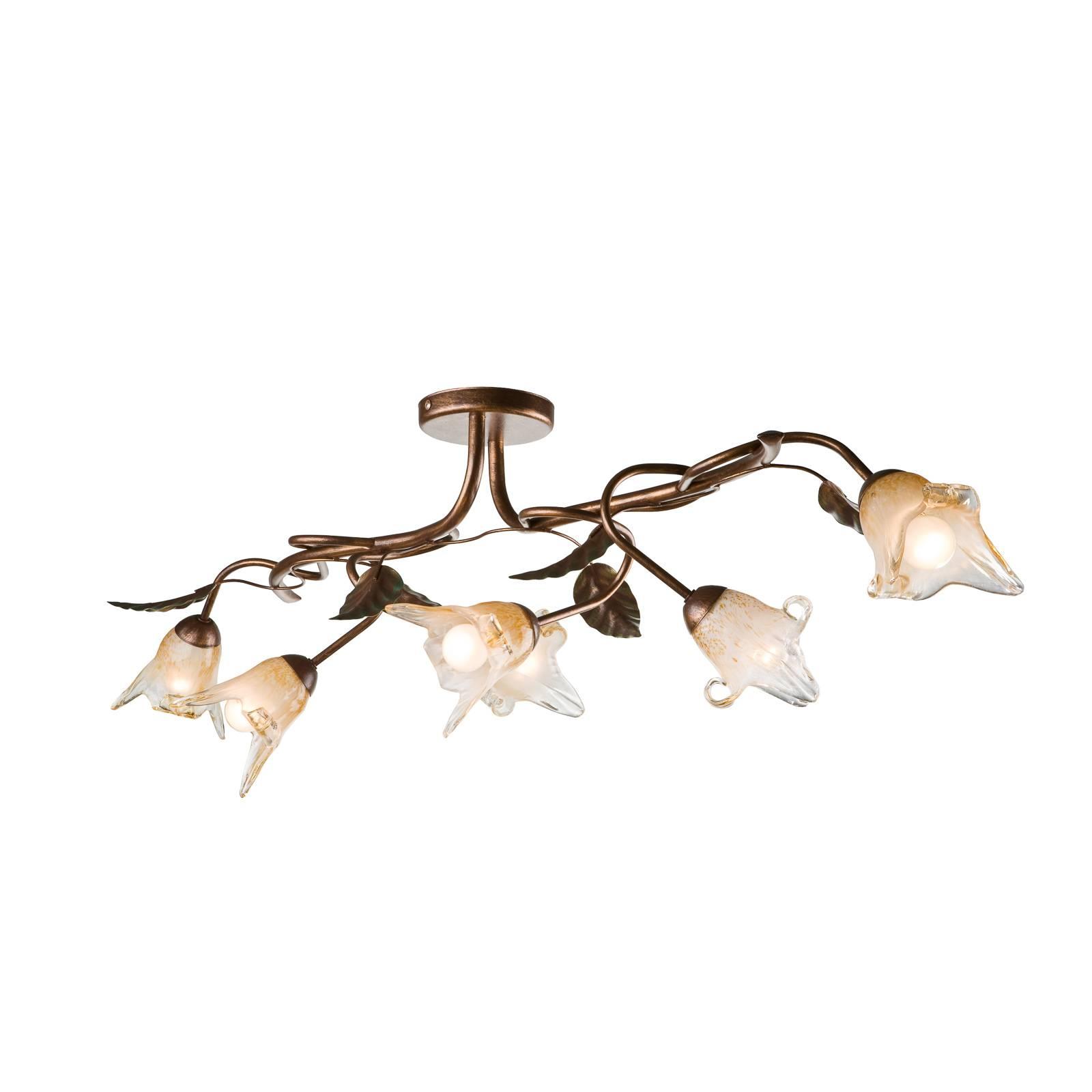 Kattolamppu Siena firenzeläistyyliä, 6-lamppuinen