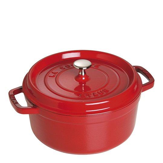 Staub - Gryta 3,8 L rund Röd