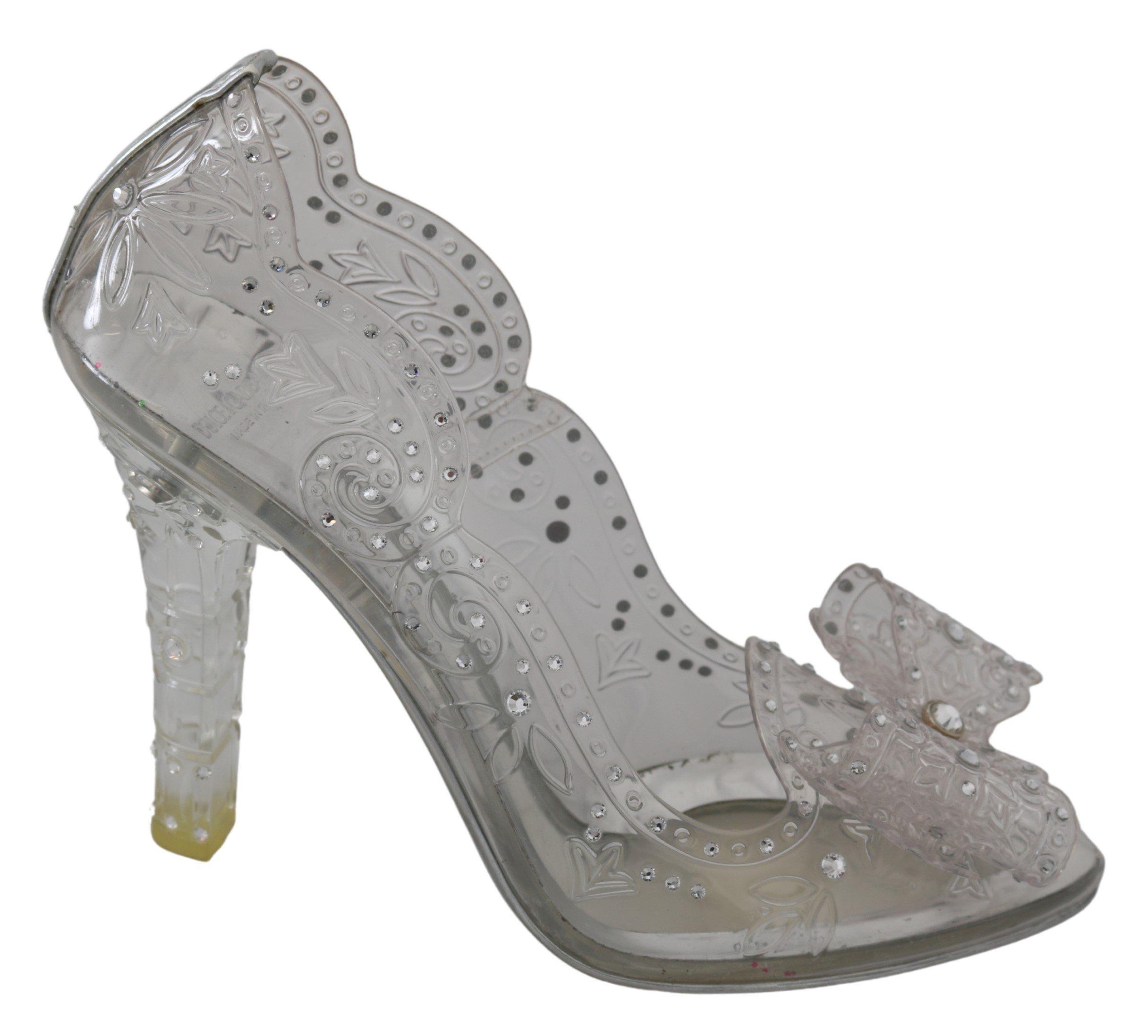 Dolce & Gabbana Women's CINDERELLA Crystal Pumps Transparent LA7272 - EU40/US9.5