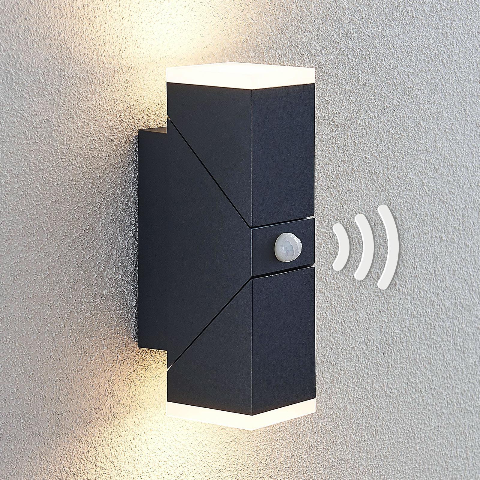 LED-ulkoseinävalaisin Sally, 2-lamppuinen, sensori