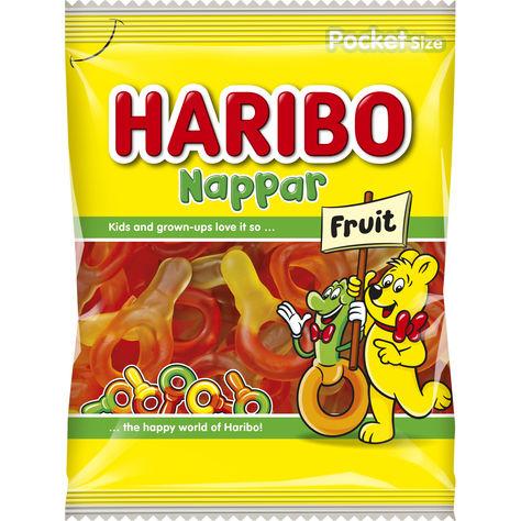 Haribo Fruktnappar 80g