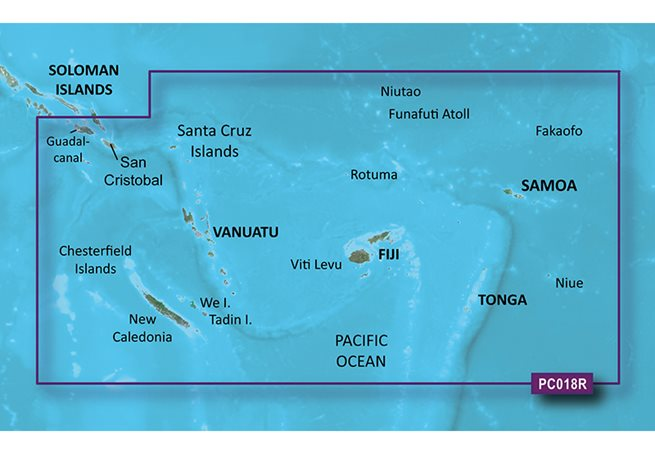 Garmin New Caledonia to Fiji Garmin microSD™/SD™ card: HXPC018R