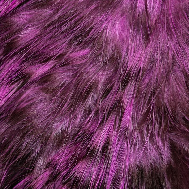 Whiting Bird Fur Grizzly Pink