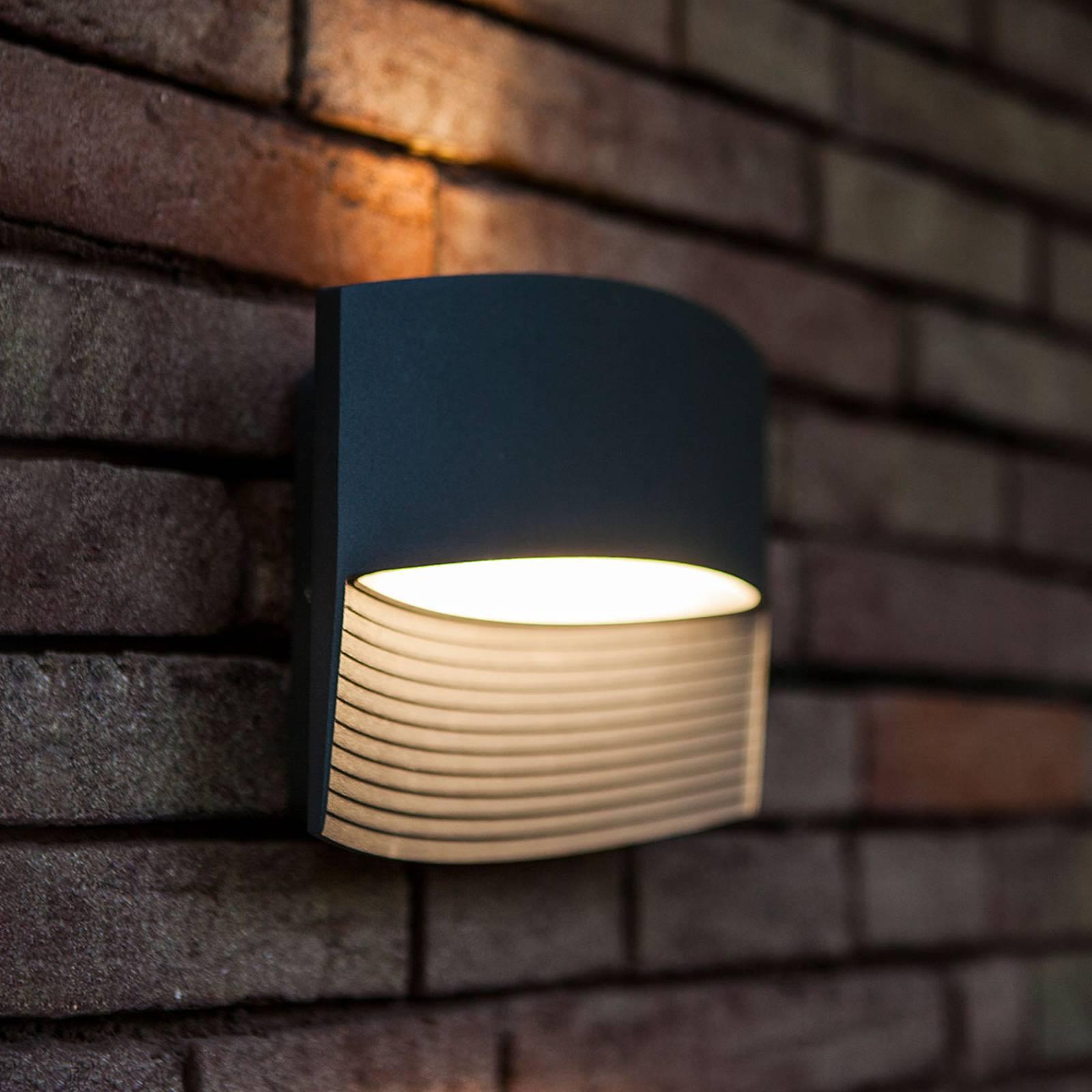 Antrasiitinvärinen Lotus-LED-ulkoseinävalaisin