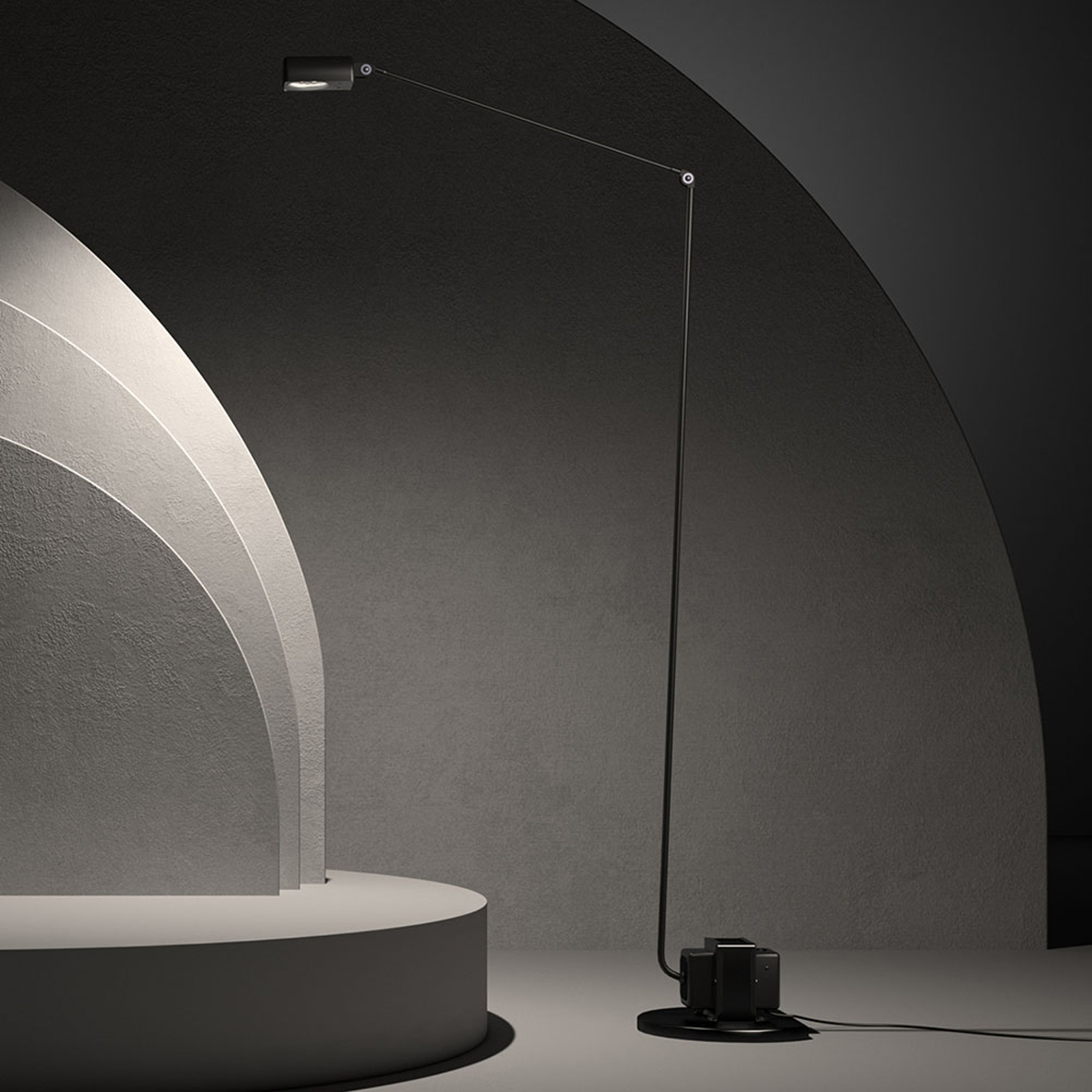 Lumina Daphine -LED-lattiavalo 3 000 K, musta