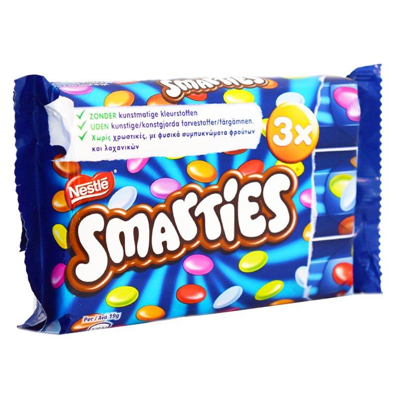 "Godis ""Smarties"" 3 x 38g - 33% rabatt"