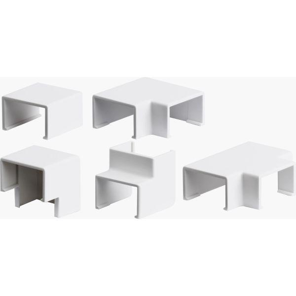 Plasfix 3410 Nivelet ja kulmakappaleet Plasfix-kaapelikanaviin, valkoinen 12 x 7 mm