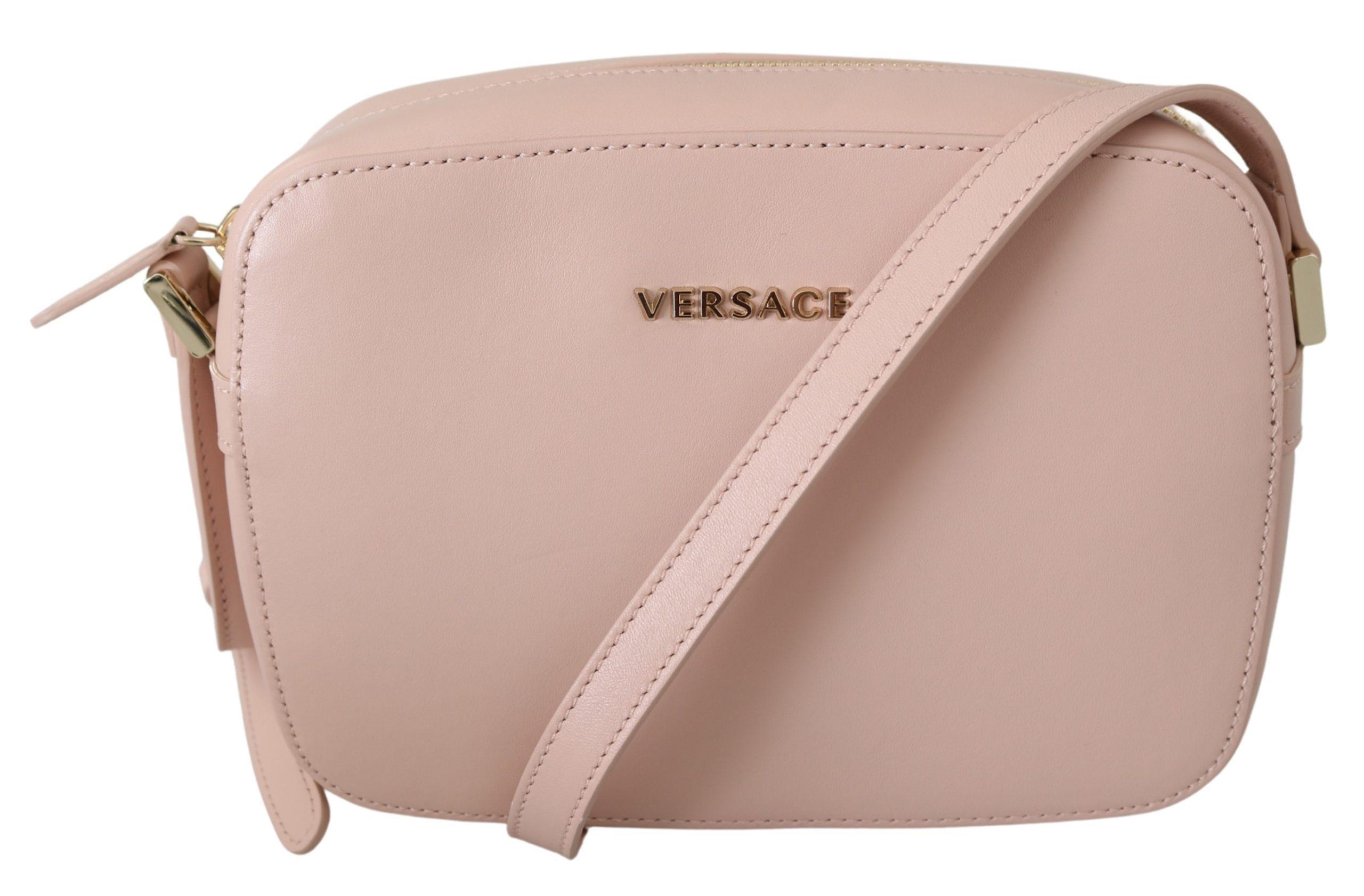 Versace Women's Leather Crossbody Bag Pink 8053850421633