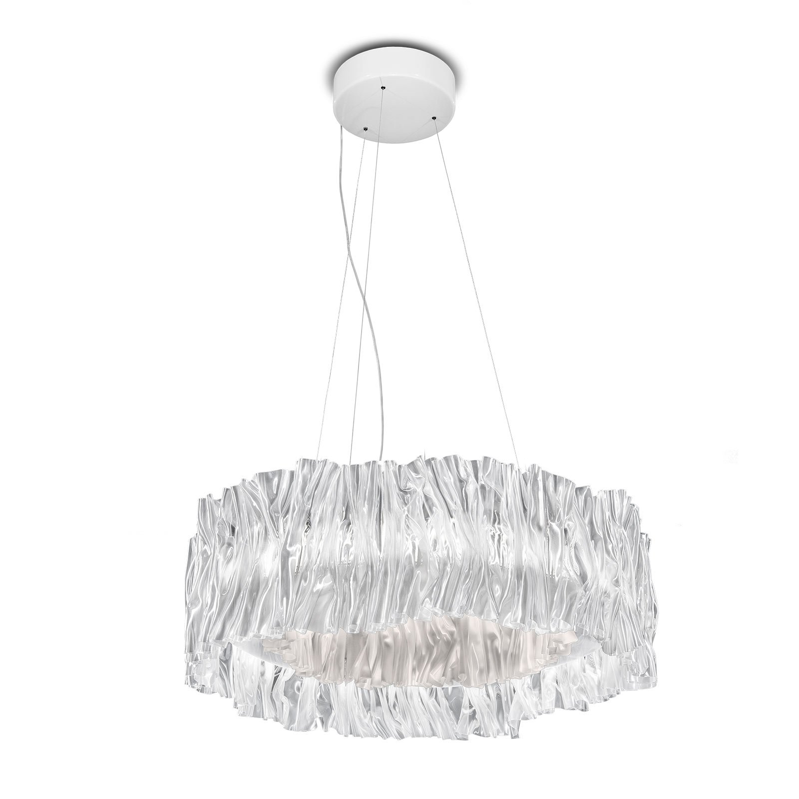 Slamp Accordéon LED-hengelampe hvit 2 700 K