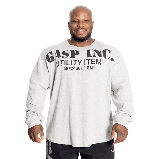 Thermal Gym Sweater, Grey Melange