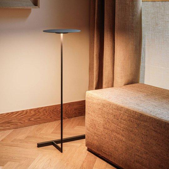 Vibia Flat LED-gulvlampe 96 cm grå L1, dimbar