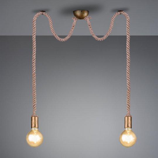 Riippuvalo Rope koristeellinen vaijeri 2 lamppua