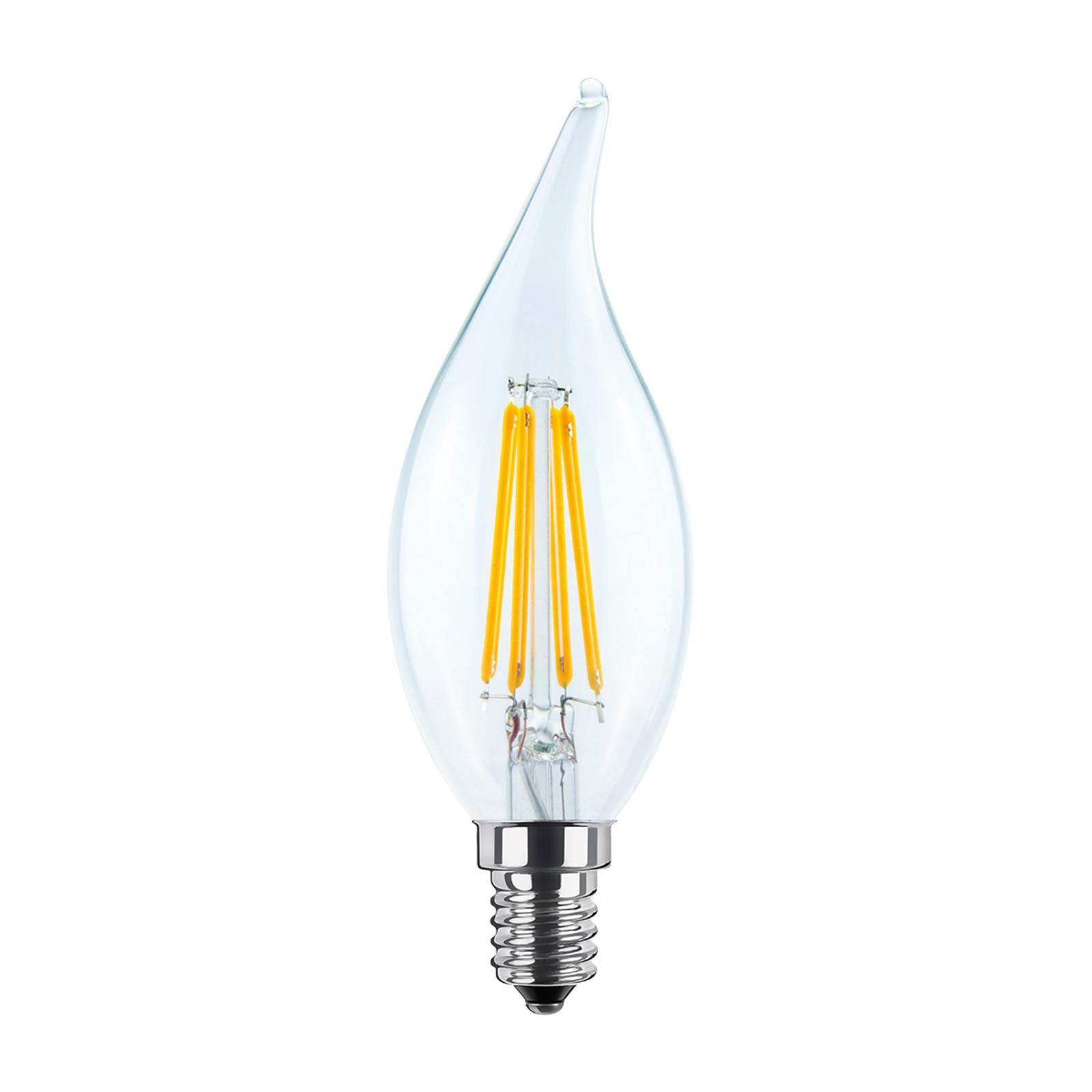Kaksikantainen tuulenvire LED-lamppu E14 4W 2700 K