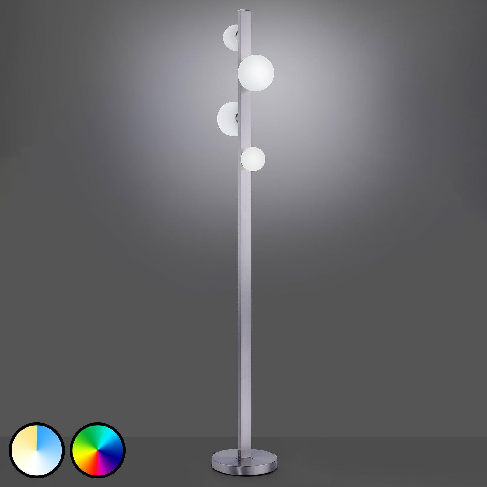 Trio WiZ Dicapio LED-gulvlampe, 4 lyskilder