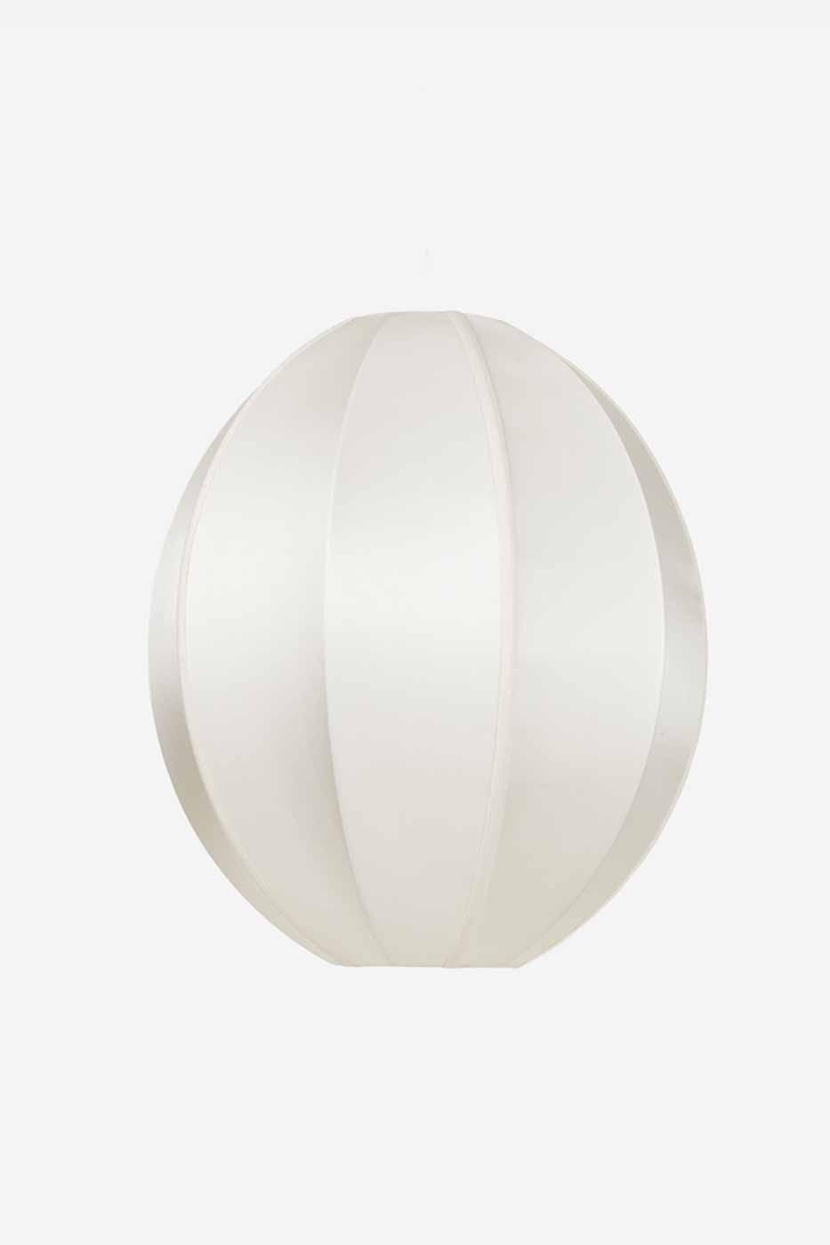 Taklampa silk Oval 35x40 cm offwhite