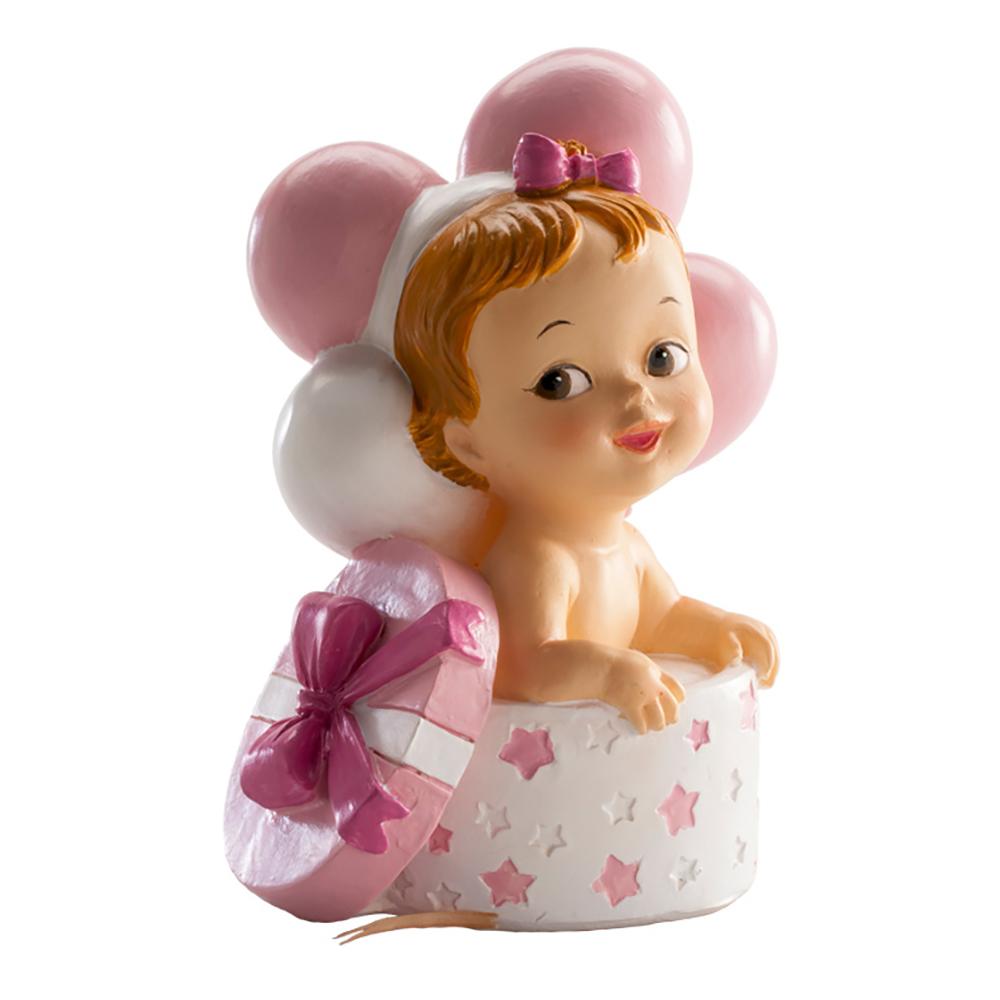 Tårtfigur Bebis I Box Rosa