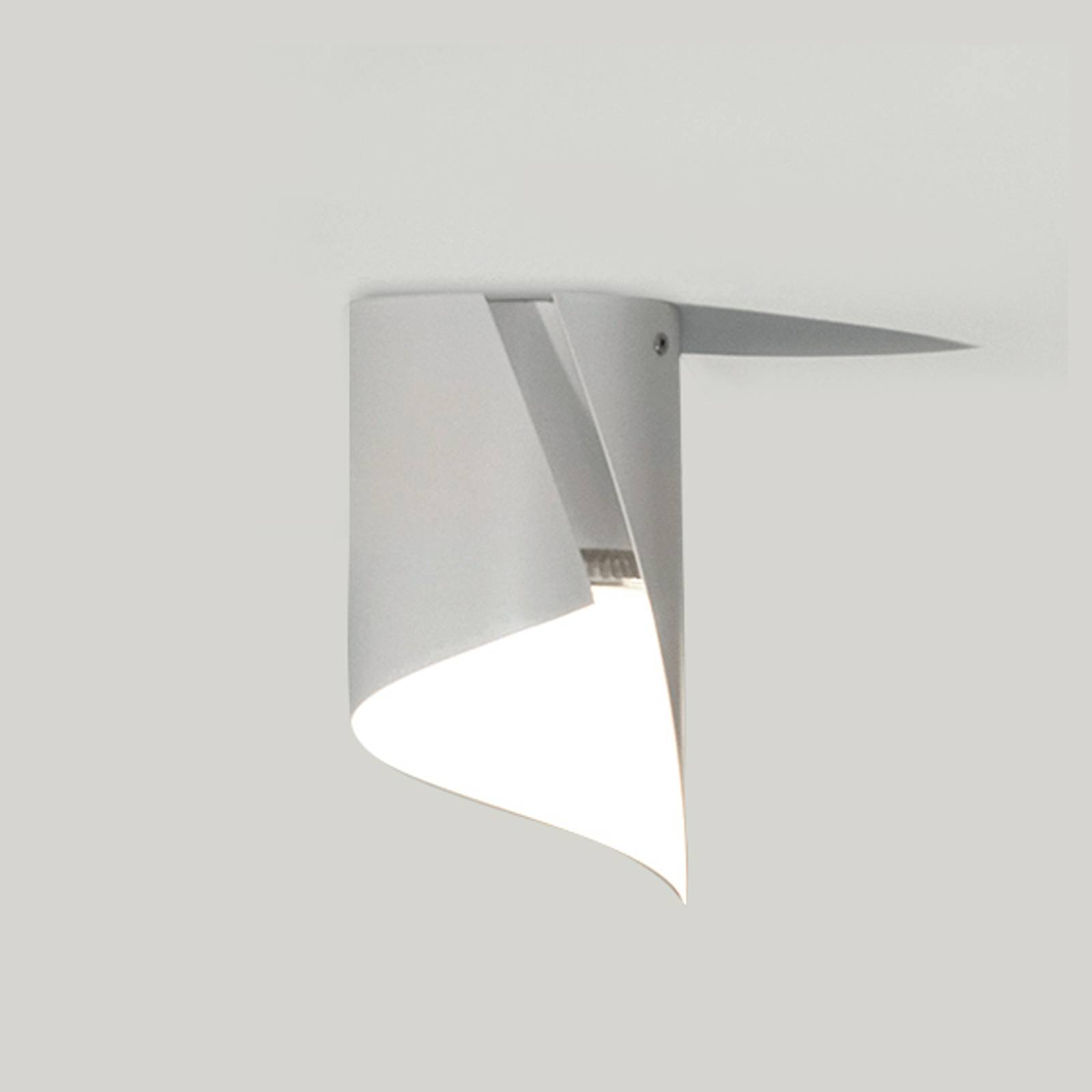Knikerboker Hué -LED-kattolamppu 8x15 cm valkoinen