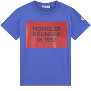 Moncler Logo T-shirt Blue 12 år
