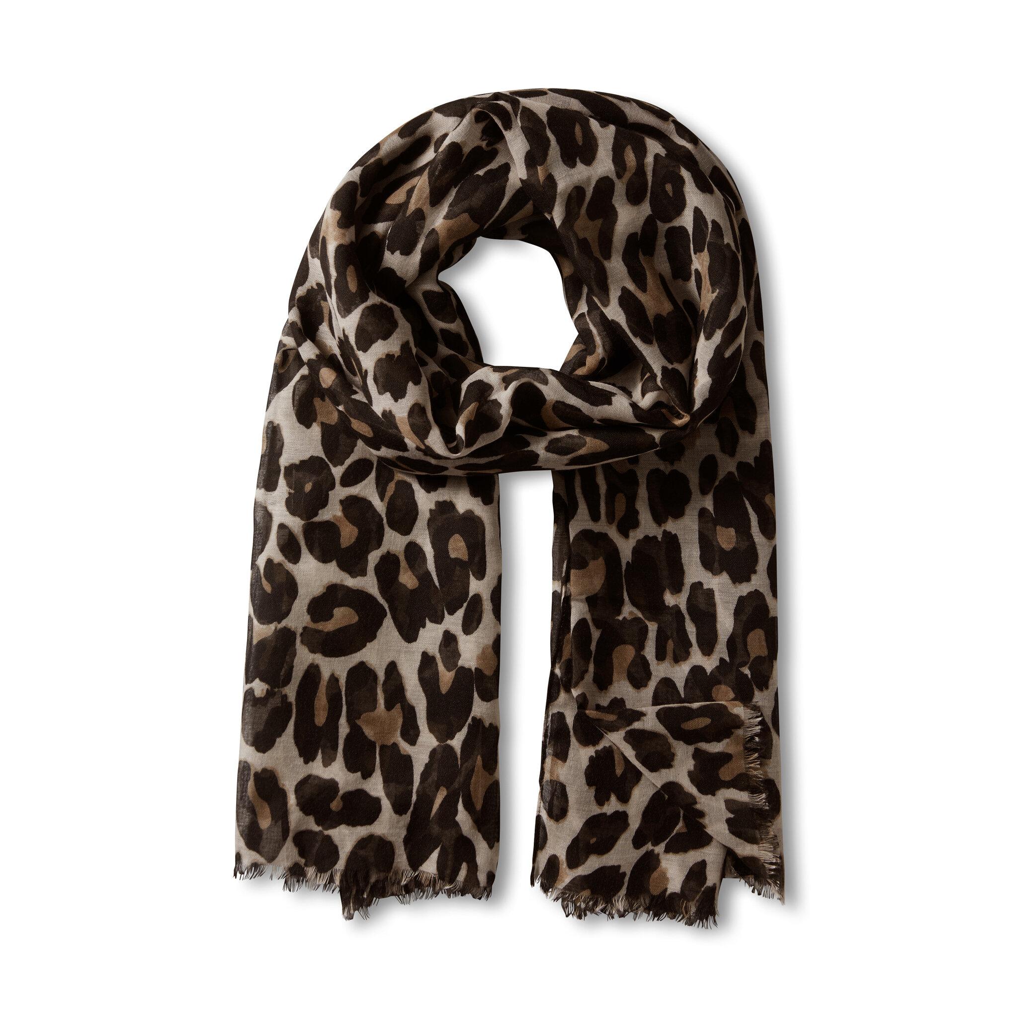 Scarf med leopardmönster