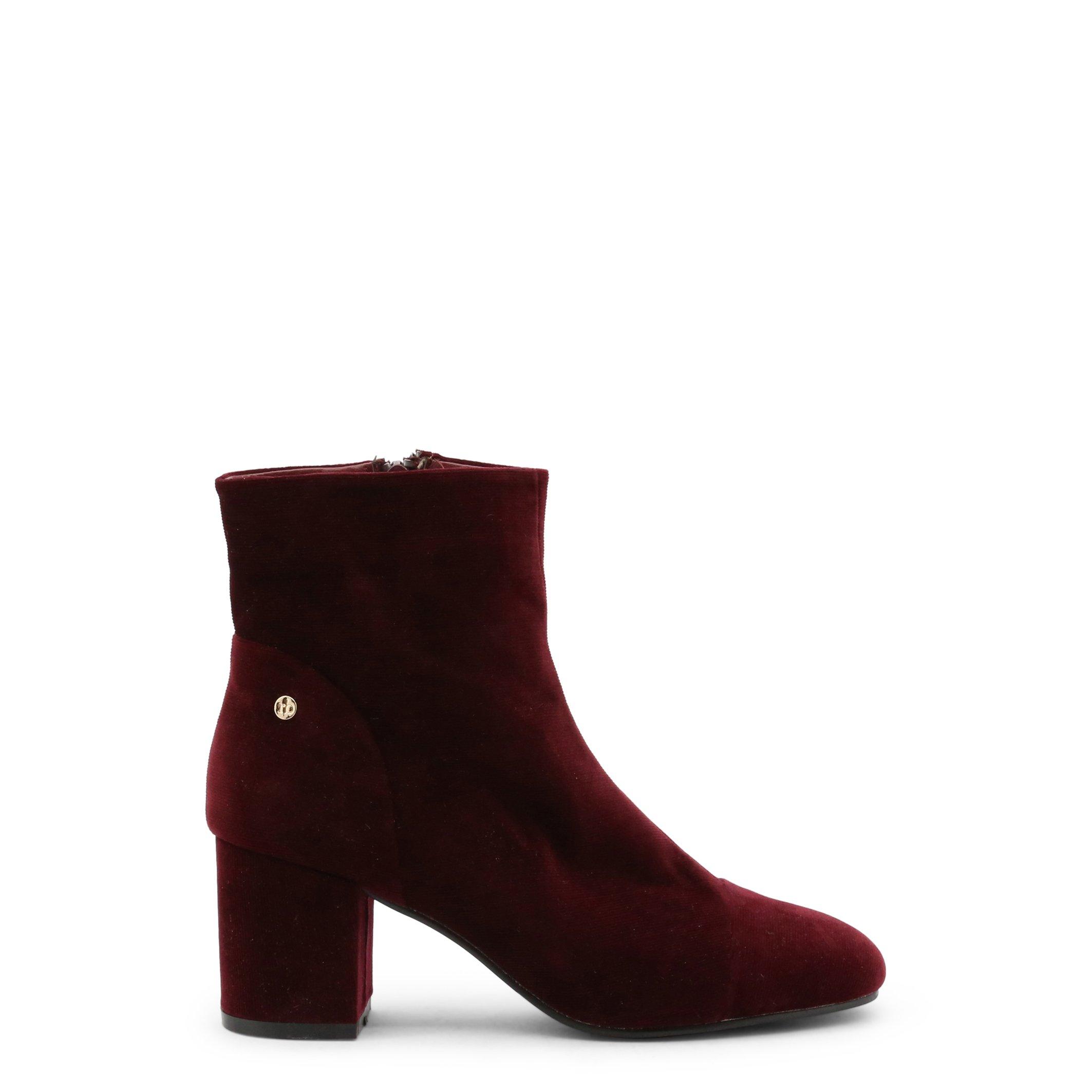Roccobarocco Women's Ankle Boot Black RBSC1N201STD - red EU 37