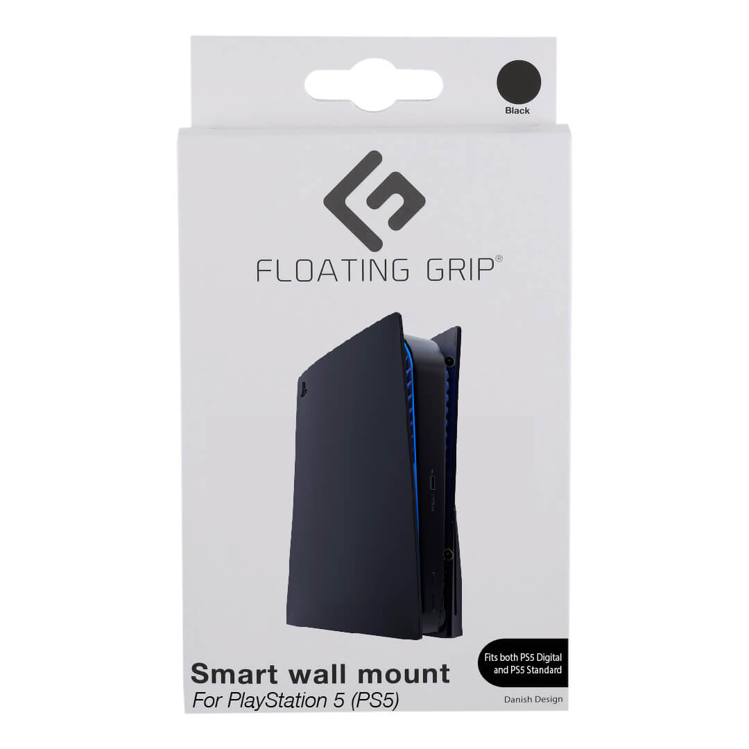Floating Grip Playstation 5 Wall Mount by Floating Grip Black