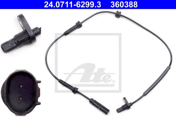 ABS-anturi ATE 24.0711-6299.3