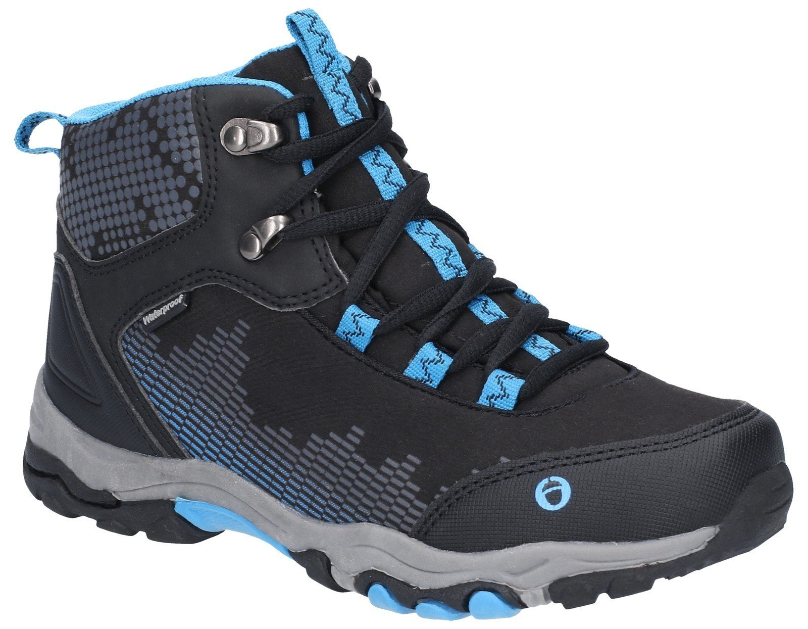 Cotswold Kid's Ducklington Lace Up Hiking Waterproof Boot Multicolor 28251 - Black/Blue 10