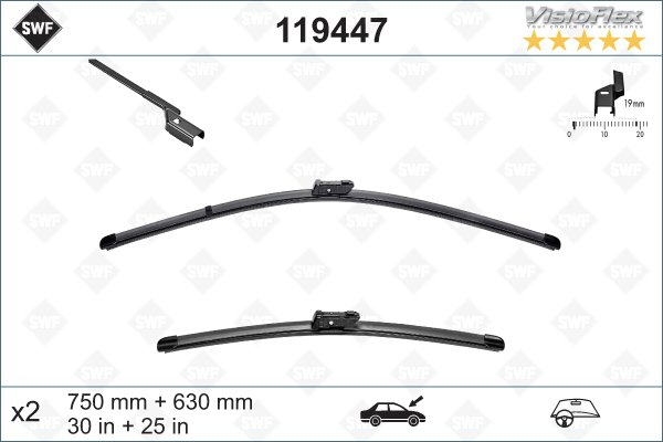 Flatblade set 750 + 630 mm