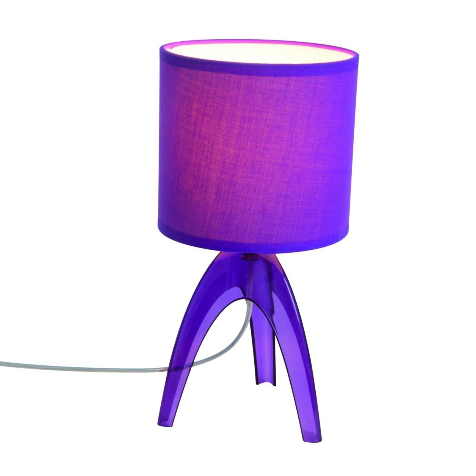 Trendy bordlampe Ufolino, fiolett