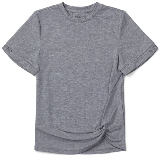 Hyperfied Jersey Knot Logo Top, Grey Melange 134-140