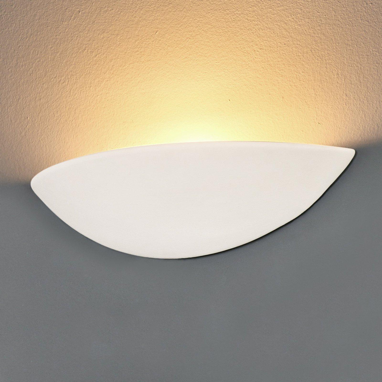 LED Gips-vegglampe PALE, kan males