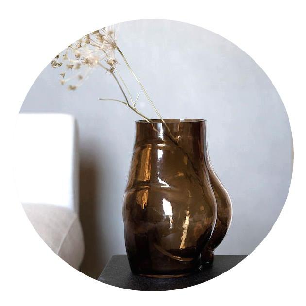 Rumpvas Butt glas brun By ON