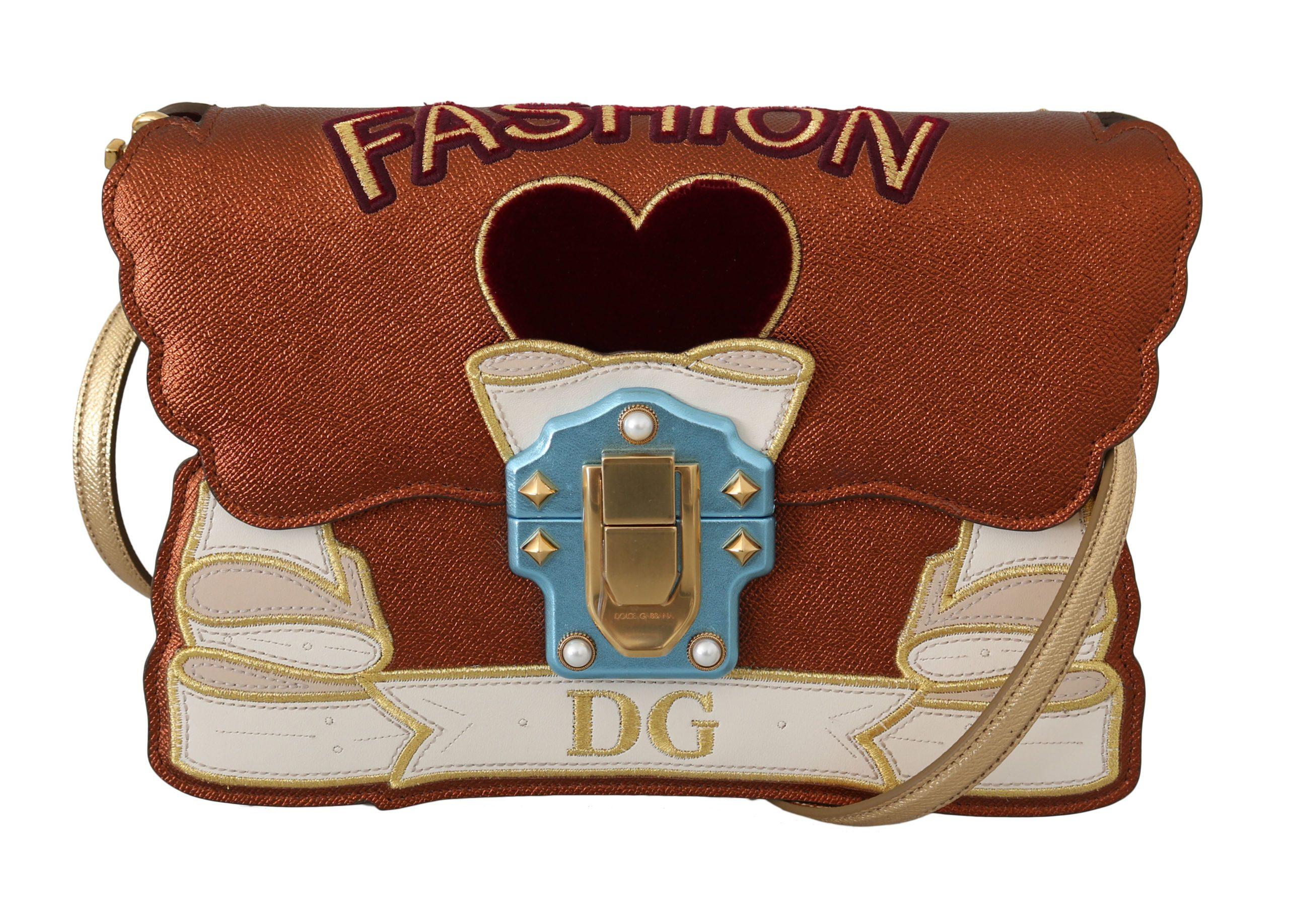 Dolce & Gabbana Women's Leather LUCIA FASHION Shoulder Bag Multicolor VA8848