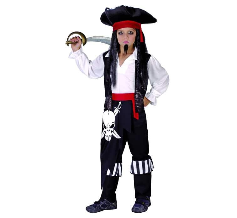 Pirat maskeraddräkt barn M