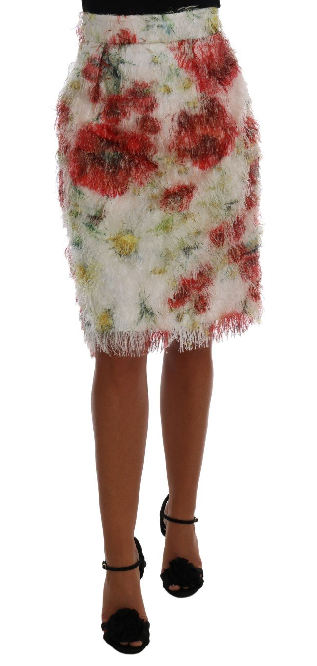 Dolce & Gabbana Women's Floral Patterned Pencil Straight Skirt Multicolor SKI1033 - IT38|XS