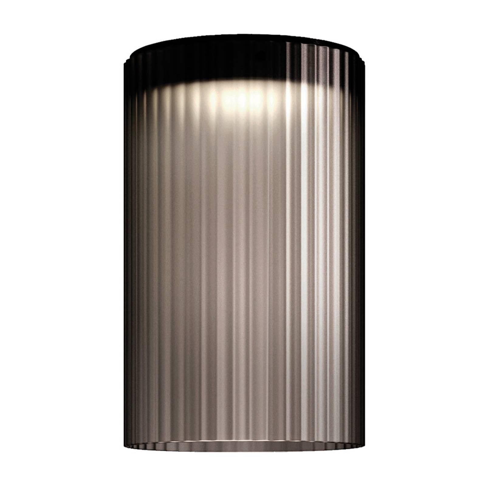 Kundalini Giass -LED-kattovalaisin Ø 30 cm harmaa