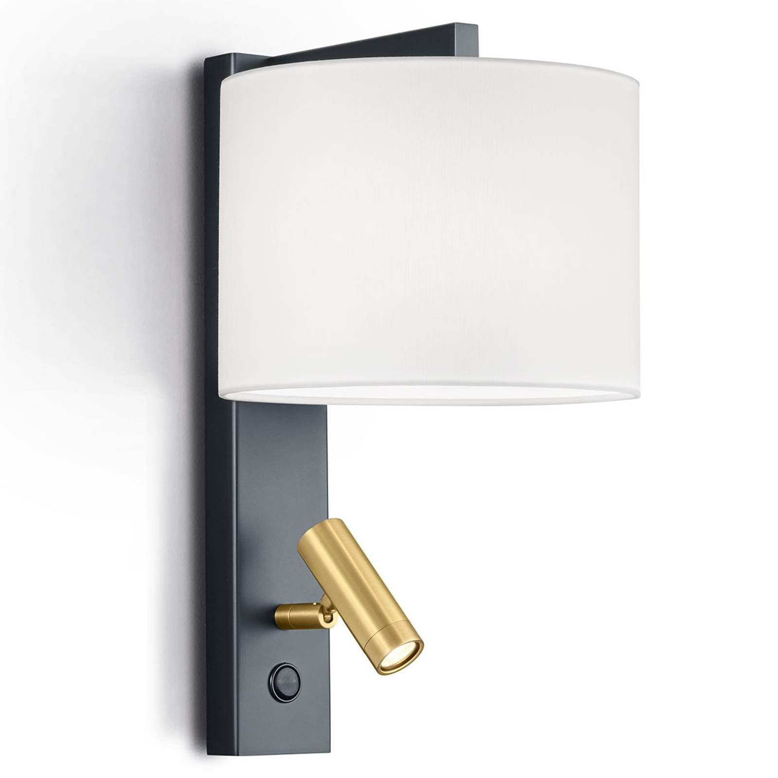Vegglampe Mila med dreibar LED-leselampe