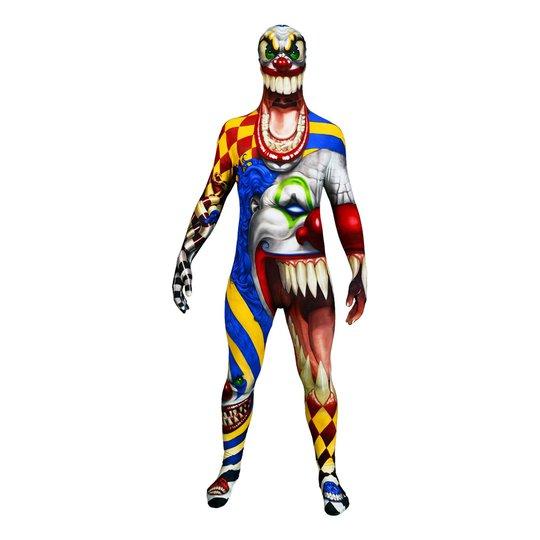 Morphsuit Scary Clown Maskeraddräkt - Large