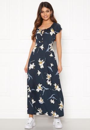 Happy Holly Tessie maxi dress Dark blue / Patterned 36/38S