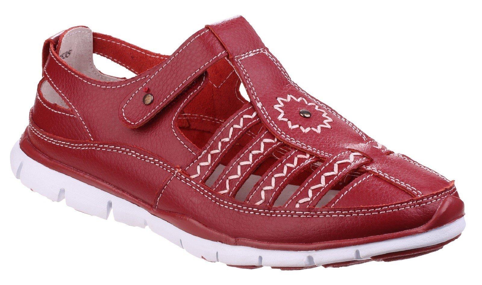 Fleet & Foster Women's Cabernet Memory Sandal Various Colours 24946-41278 - Red 3