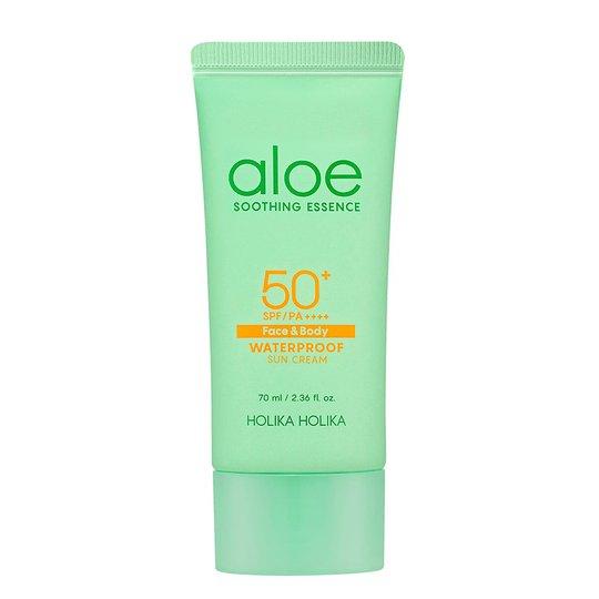 Aloe Soothing Essence Waterproof Sun Cream, 70 ml Holika Holika Kasvojen aurinkotuotteet
