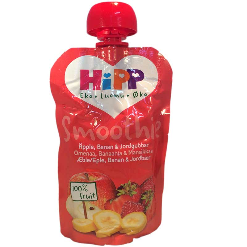 Smoothie Äpple, Banan, Jordgubb 100g - 33% rabatt
